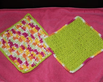Rainbow dishcloths set of 2