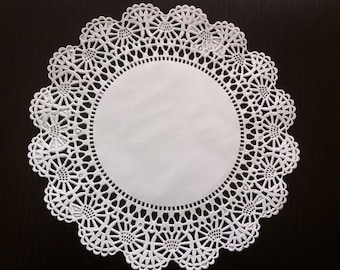"8 INCH White Cambridge Paper Lace Doilies 8"" Wedding Shower Party Decor Gift Wrap"