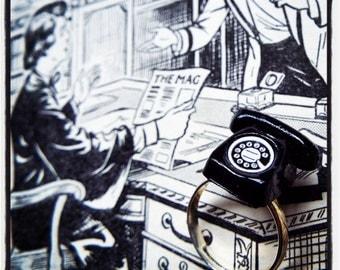 Vintage retro rotary telephone, phone ring