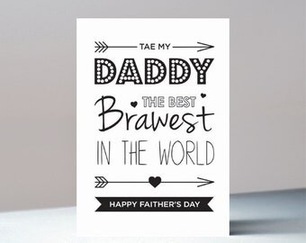 Brawest Daddy, Faither's Day, Father's Day Card