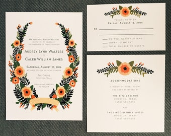Sweet Poppies Invitation Set
