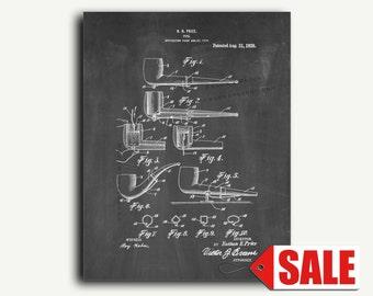 Patent Art - Pipe Patent Wall Art Print