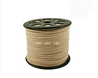 Wholesale-100Yds  Light Brown faux suede cord, 3mm,  Light Brown  faux suede cord for bracelets 3m