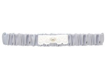 Edmee wedding garter / lavender blue, Bridal Garter, Something Blue Garter, Bridal Accessories, Wedding Garter, Silk and Lace Garter
