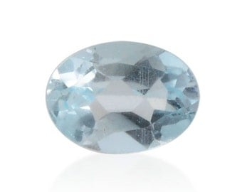 Sky Blue Topaz Oval Cut Loose Gemstone 1A Quality 8x6mm TGW 1.15 cts.