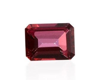 Blazing Red Triplet Quartz Loose Gemstone Octagon Cut 1A Quality 8x6mm TGW 1.85 cts.