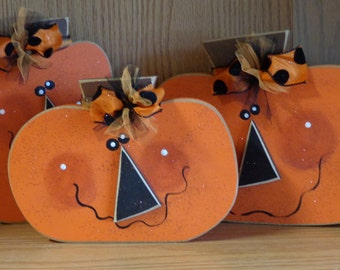 Jack O'Lantern, Pumpkin, Fall decor, Halloween Decor, Chunky Jack O'lanterns