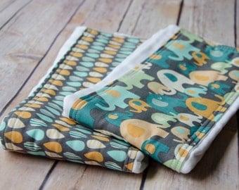 Elephant Splash Cloth Diaper Burpie
