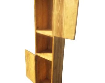 Chunky Wood Rustic 'Skinny' Bathroom Cabinet