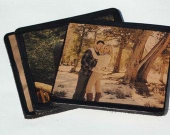 Photo Leather Coasters-Custom Designed Leather Coasters-Keeosake Coasters