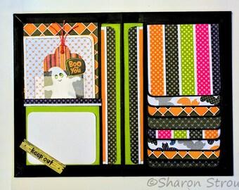 Halloween Boo To You 5x7 Folio Mini Scrapbook Album