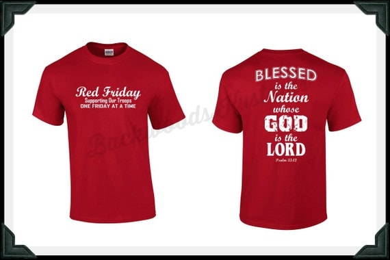 Red friday military shirt t shirt show your support for our for Red support our troops shirts