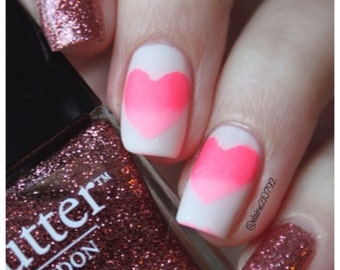 Love Hearts Nail Decals and Stencils