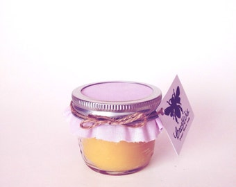 Lavender Scented Mason Jar Beeswax Candle