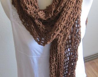 Crochet Shawl,Shawl,Hooded Scarf,Scarf,Prayer Shawl,Boho Shawl,Gypsy Shawl,Bohemian Shawl,Summer Shawl,Shabby Chic,Wrap,Poncho,Bronze Shawl