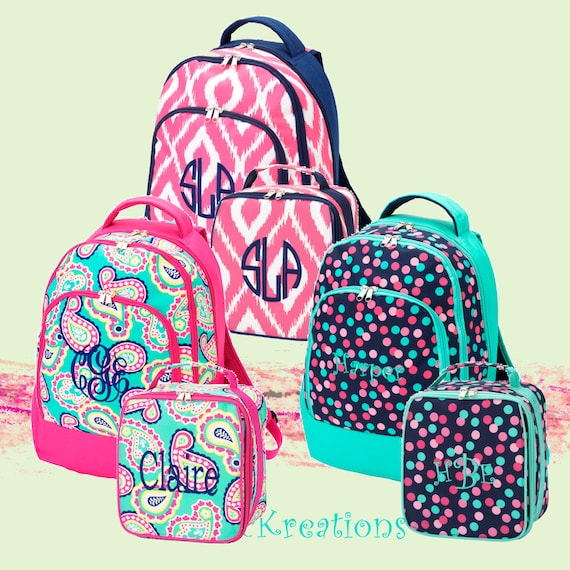 NEW 2015 STYLE Personalized Girls 2 Peice Set Backpack and