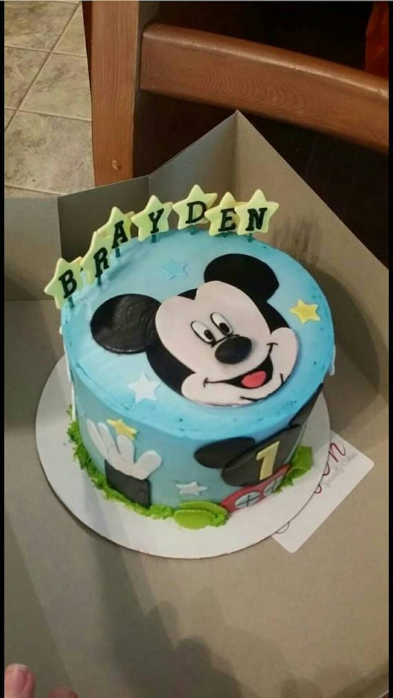 DIY: Mickey mouse cake edible decorations by GlazenCakes ...
