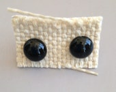 blueloulou earrings, 8 to 10mm, black but in all colors possible