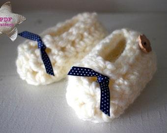 Crochet pattern Baby Ballerinas