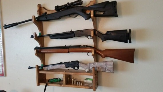 Gun Rack Rifle Rack Solid Southern Pine Wood Construction