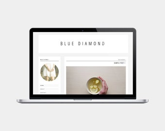 Premade Blogger Template | Blue Diamond