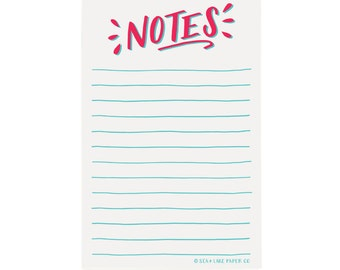 Notes - Grown up Chore List, Funny Notepad, To Do Notes, List, Hand lettered Notepad/N-108
