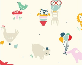 Everyday Animals, Birch Organic Fabrics Everyday Party Collection by Emily Isabella 3506