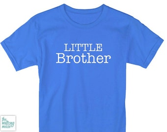 LITTLE BROTHER white boys TSHIRT sibling kids