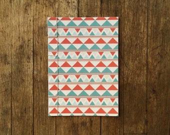 Japanese Bound A6 Notebook 'Longbow' geometric pattern – 20 pages