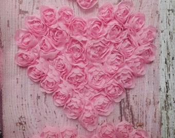 """Light Pink 5"""" Chiffon Heart Trim,Chiffon Ribbon Heart, Headband Supplies,Wholesale"""