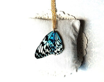 Butterfly pendant , butterfly necklace ,  insect necklace  , butterfly jewelry , insect jewelry , mint pendant , mint necklace ,