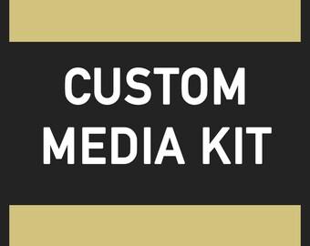 Custom Media Kit / Press Kit / Media Kit Marketing / Pricing