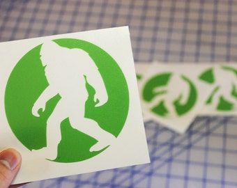 Sasquatch decal.. Bigfoot sticker.. Sasquatch window decal.. Bigfoot vinyl decal.. Samsquanch decal.. Samsquanch sticker..