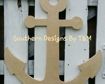 Wooden anchor wall decor on etsy a global handmade and for Anchor door decoration