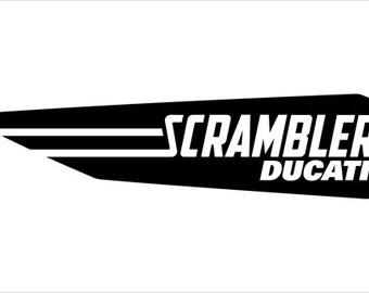 Ducati Scrambler sticker, decal