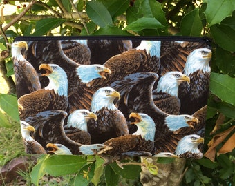 Bald Eagles Fabric Pencil Case, Cosmetic Pouch, Coupon Holder