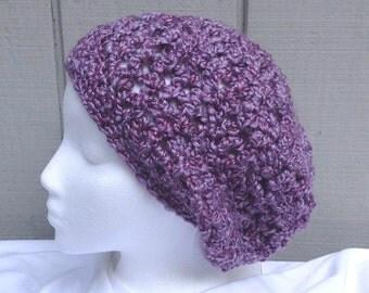 Girls hat - Slouchy hat - Girls accessories - Childs crochet hat - Kids accessories