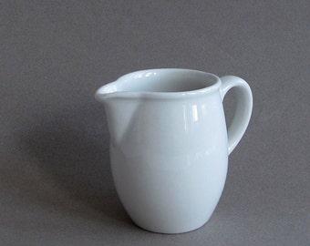 Vintage White Ironstone Milk Pitcher Anfora