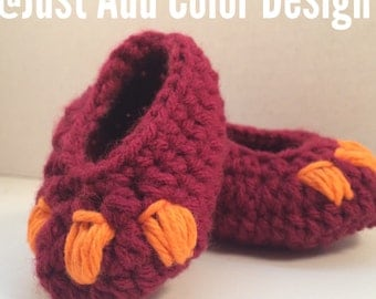 Hokie Baby Booties