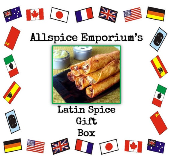 Latin Spice Gift Box Gourmet Homemade Cooking Foodie Chef Spice Herb ...