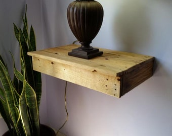 The Original Floating Drawer Modern Rustic Reclaimed CUSTOM SIZES AVAILABLE! Primitive Decor Floating Shelf Floating Shelves Barnwood Rustic
