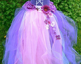 Rapunzel dress, Tangled,Disney princessdress,custom couture tutu, pageant,birthday, wedding, theme wear,OOC wear,sizes: 0-10years