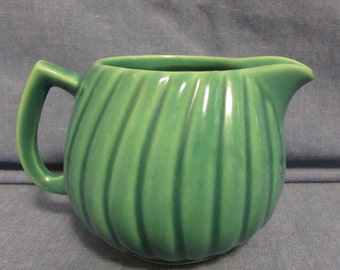 Cream Pitcher, Green, Vintage, 1950's or 1960's
