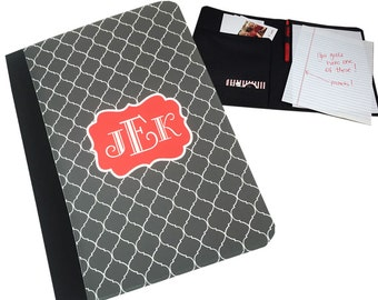 Monogrammed Legal Pad Portfolio CoverPersonalized Notepad Legal Size Notepad Holder Personalized Portfolio Cover