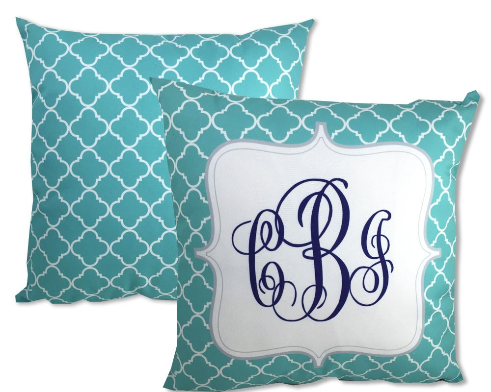 Monogram Pillow Decorative Throw Monogrammed by onesassysister