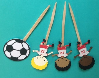 Soccer players football cupcake toppers