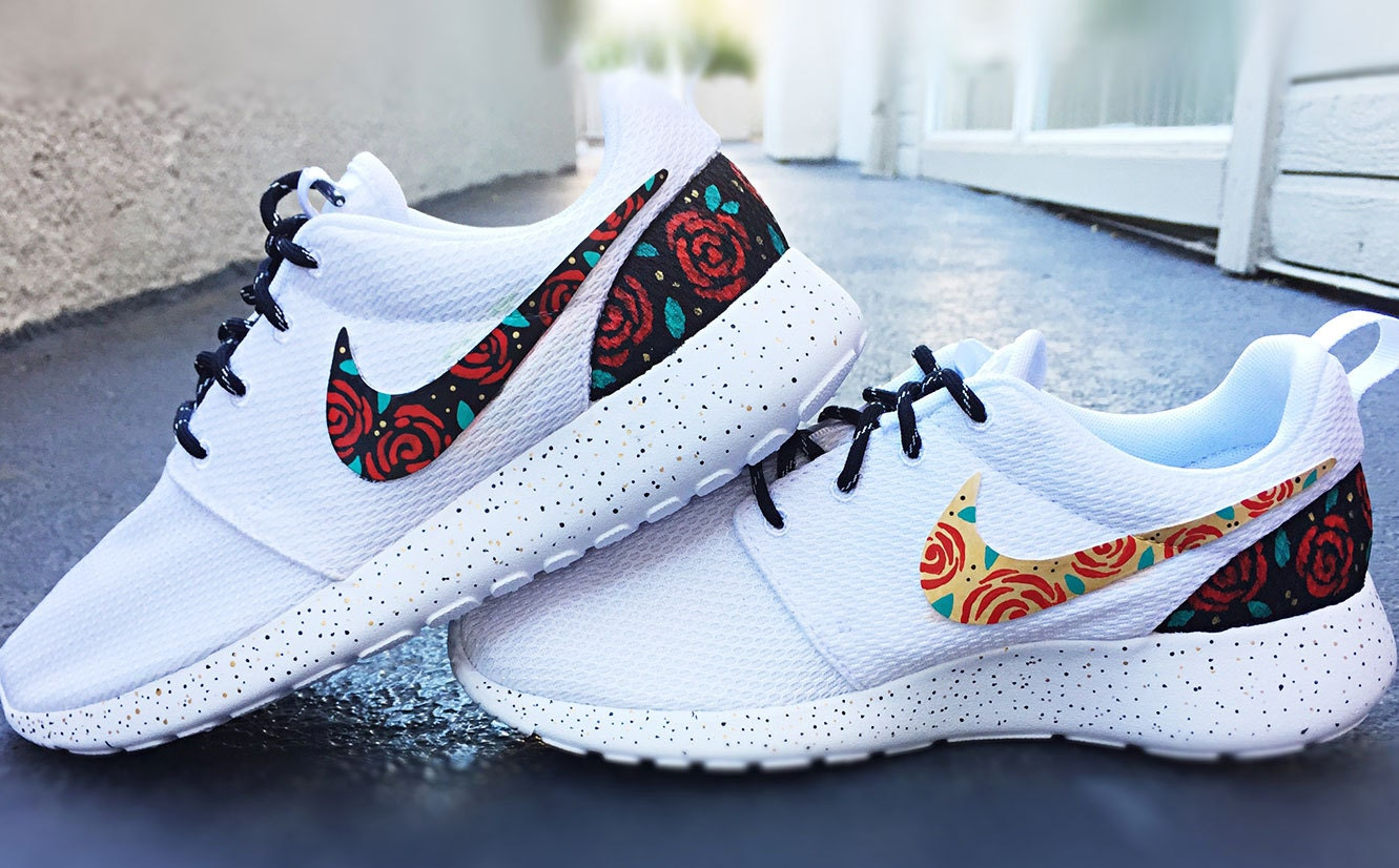 Custom Painted White Nikes