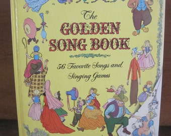 vintage 1970s the golden song book by a golden book company
