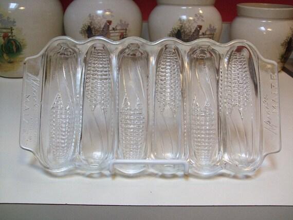 Vintage Miracle Maize Corn Cornbread Glass Baking Dish Or Pan