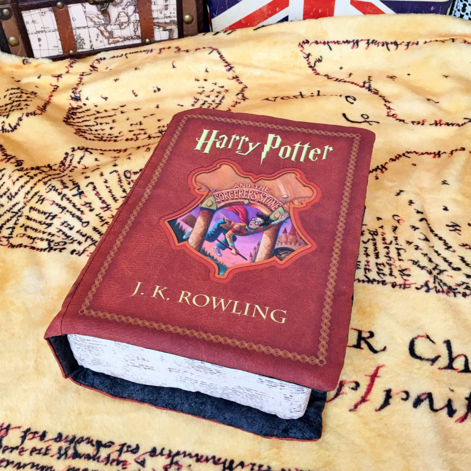 Harry Potter Book Cover Fabric : Harry potter book pillow by brassingtonhollow on etsy
